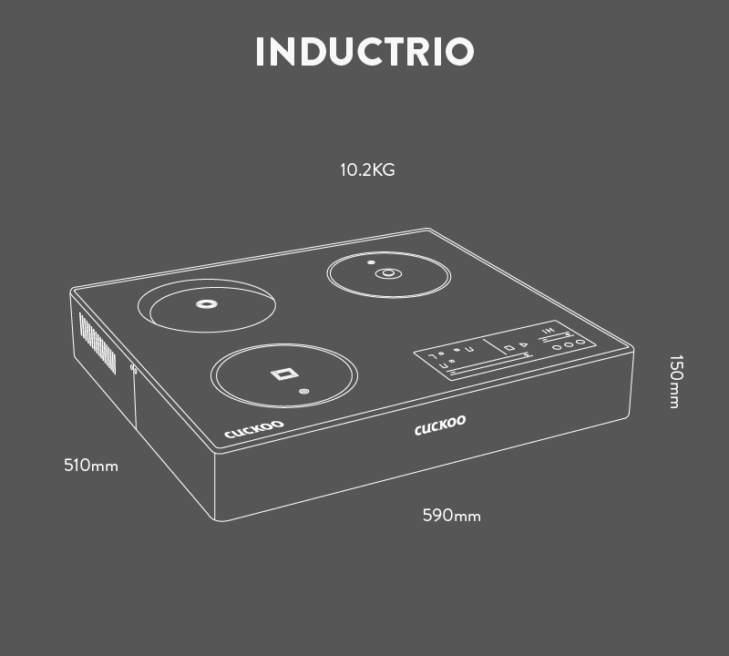 Cuckoo Inductrio Hybrid Hob 1st In Malaysia Rm100 Month